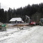 odbudowa zagrody J. Pawlaka w skansenie w Zubrzycy Górnej
